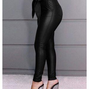 hirigin Pants & Jumpsuits - 0938 Women Leggings Leather High Waist Skinny Snak